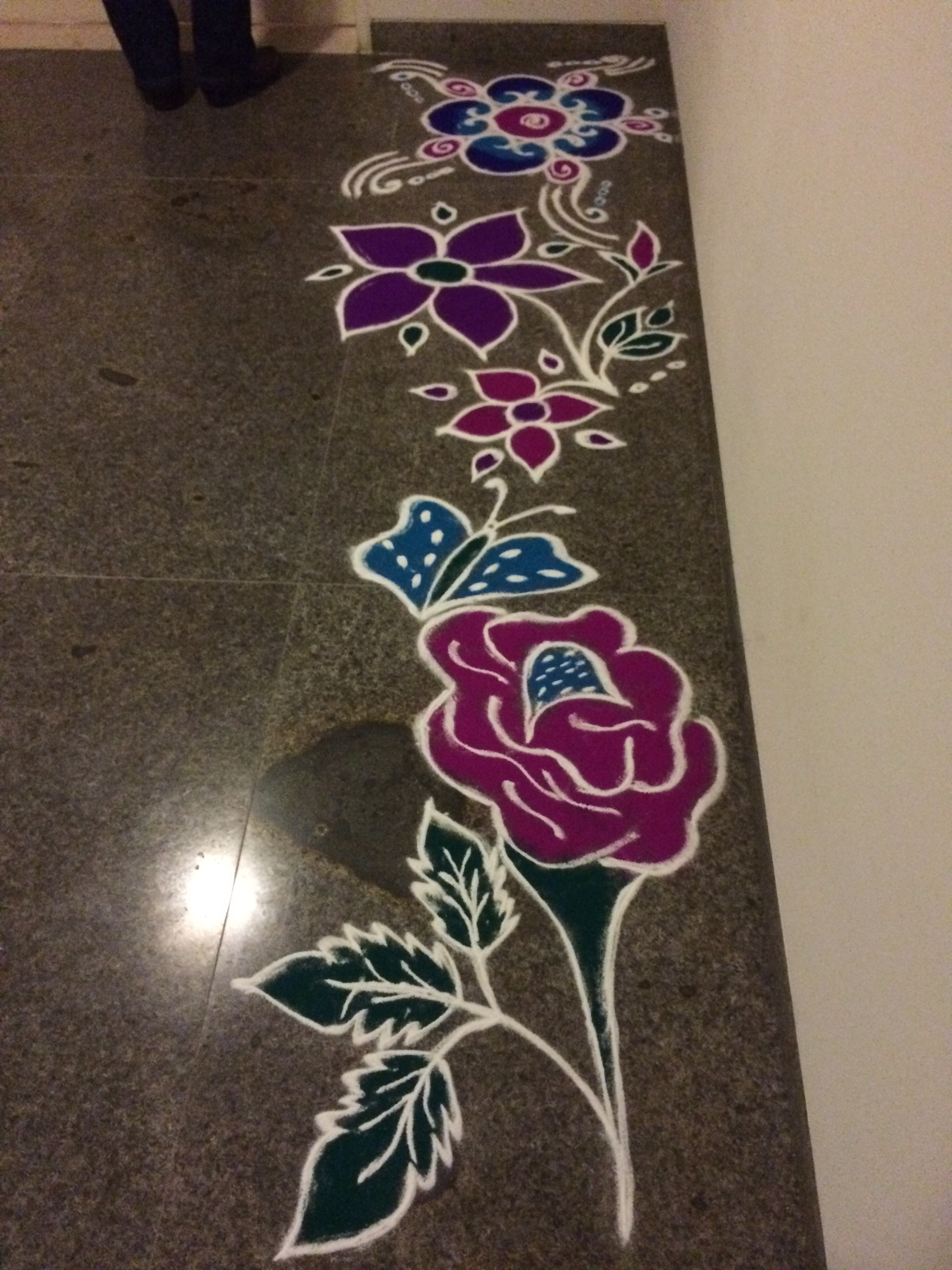 Rangoli u2013 a beautiful traditional sand art done outside of your door. & Platitudes | What Will Happen to Me?
